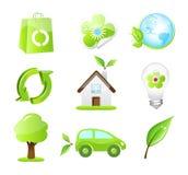 Vector eco vriendschappelijke pictogrammen stock illustratie