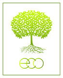 Vector ecologic symbol. Royalty Free Stock Photography