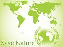 Vector ecological earth background Stock Photos