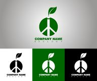 Vector ecology logo with different background options vector illustration