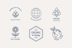 Vector Ecological Logos Royalty Free Stock Photos