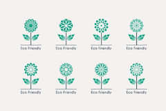 Vector Ecological Logos Royalty Free Stock Images