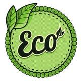 Vector ecologieetiket Stock Afbeelding