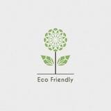 Vector Ecologisch Embleem Royalty-vrije Stock Afbeeldingen
