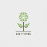 Vector Ecologisch Embleem Stock Foto