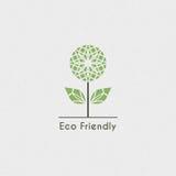 Vector Ecologisch Embleem Stock Afbeeldingen