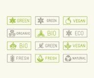 Vector ecology badges Stock Photos