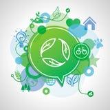 Vector ecology concept Royalty Free Stock Photos
