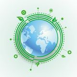 Vector ecology concept Stock Photo