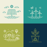 Vector ecology concepts in trendy linear style Stock Photo