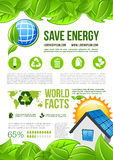 Vector ecology and environment energy infographics Stock Photography