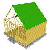 Vector Ecology green house. Royalty Free Stock Photography