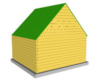 Vector Ecology green house. Royalty Free Stock Photo