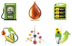 Vector ecology icon set. Part 1 Royalty Free Stock Image
