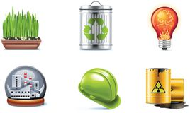 Vector ecology icon set. Part 2 Stock Photography