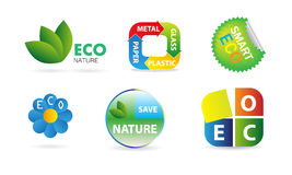Vector ecology icons Royalty Free Stock Image