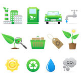 Vector ecology icons set vector illustration
