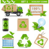 Vector Ecology Icons Set 1 Stock Photo