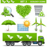 Vector Ecology Icons Set 3 Stock Photo