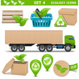 Vector Ecology Icons Set 4 Stock Photography