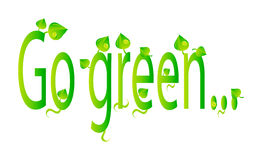 Vector ecology illustration go green. Very nice illustration of text with natural motives Stock Image