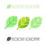 Vector ecology logo or icon, nature logotype Royalty Free Stock Image