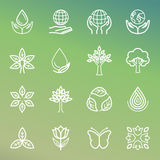Vector ecology and organic icons Royalty Free Stock Photos