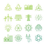 Vector ecology signs and icons Stock Photo