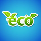 Vector ecology sticker Stock Photography