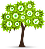 Vector ecology tree Stock Photography