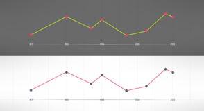 Vector economic finance graphics charts. Market Royalty Free Stock Image