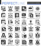Vector Economics market black mini concept icons and infographic symbols set. Vector Economics market black mini concept icons and infographic symbols Royalty Free Stock Image