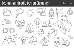 Vector ecotourism design elements  Royalty Free Stock Images