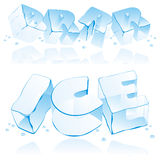 Vector editable ice letters Royalty Free Stock Images