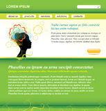 Vector editable web site green template Royalty Free Stock Photo