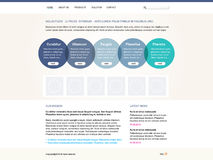 Vector editable web site template Stock Photography