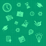 Vector education background green. Pattern Stock Photo