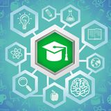 Vector education concept Royalty Free Stock Photo