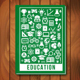 Vector Education Concept. E-learning and Science Royalty Free Stock Image