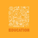 Vector education concept in trendy linear style Royalty Free Stock Images