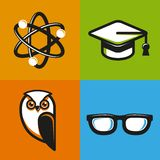 Vector education concepts in flat outline style Stock Image