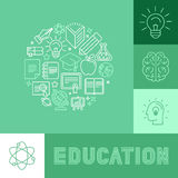 Vector education concepts Stock Image