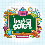 Vector education design concept with cartoon elements. Royalty Free Stock Photography