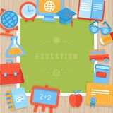 Vector education greeting card Royalty Free Stock Image