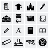 Vector Education icon set. On grey background Stock Image