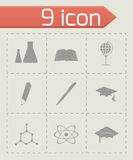 Vector education icons set Royalty Free Stock Images