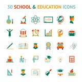 Vector 30 education icons Royalty Free Stock Photography