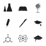 Vector education icons set Stock Photos