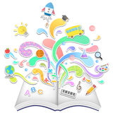 Vector education and leaning concept Royalty Free Stock Image