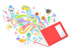 Vector education and leaning concept Stock Photography